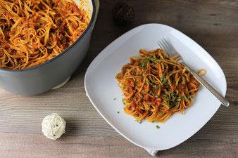 One Pot Spaghetti Bolognese im Emaillierter gusseiserner Topf mit 5,7 l von Pampered Chef im Onlineshop bestellen