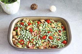 Gemüse in der Edelstahl-Wokpfanne andünsten