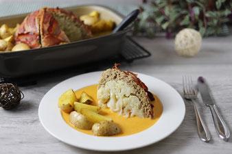 Blumenkohlbombe mit Kartoffeln aus der Ofenhexe von Pampered Chef