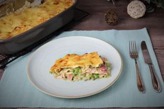 Schinken-Erbsen-Lasagne in der Ofenhexe  von Pampered Chef