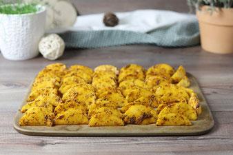 Kartoffel Wedges auf dem Zauberstein von Pampered Chef