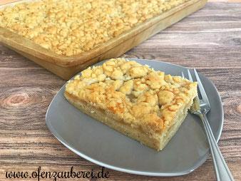 Streuselkuchen mit Apfelmus auf dem Ofenzauberer von Pampered Chef®