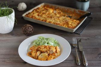 Hähnchen-Kartoffel-Platte im großen Ofenzauberer aus dem Pampered Chef Onlineshop