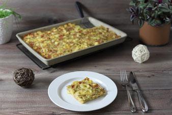 Schüttelpizza oder Rührpizza im Ofenzauberer von Pampered Chef
