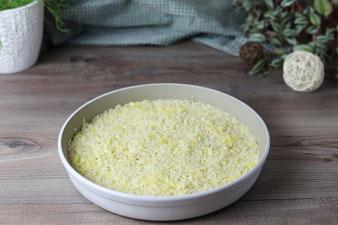 Gekochter Reis in der runden Ofenhexe von Pampered Chef