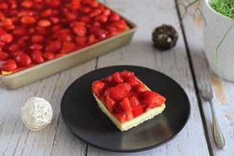 Käsekuchen mit Erdbeeren im Ofenzauberer von Pampered Chef