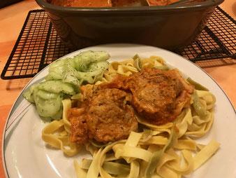 Schweinefilet italienisch in Tomatensauce aus der Ofenhexe oder Zaubermeister oder Ofenmeister aus dem Pampered Chef Onlineshop kaufen