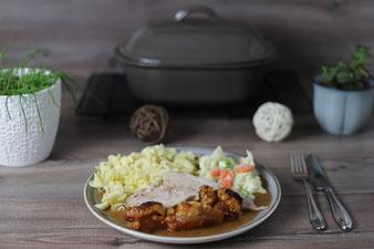 Rezept für Schweinebraten oder Krustenbraten im Ofenmeister von Pampered Chef