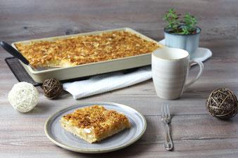 Butterkuchen Florentiner Apfelkuchen auf dem großen Ofenzauberer James mit Teigroller, große Nixe und Küchenhobel aus dem Pampered Chef Onlineshop
