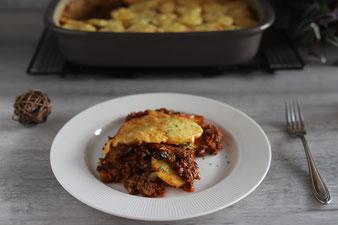 Kartoffel-Chili-Gratin in der großen Ofenhexe von Pampered Chef