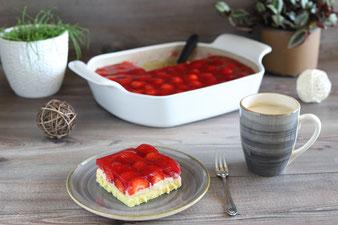 Erdbeer-Vanille-Kuchen im großen Bäker von Pampered Chef