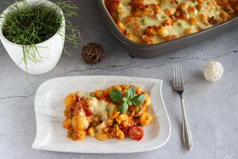 Gnocchi Auflauf mit Gemüse in der Ofenhexe von Pampered Chef