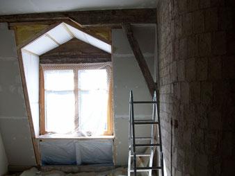 Treppenhaus Obergeschoss in Arbeit