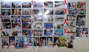Photos des familles touchées par le Sida.