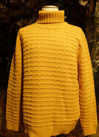Le Bleu Pullover Rollkragen 55903 in dunklem gelb 4208