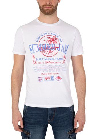 Summer Jam T-Shirt weiß  bei #Männermode #Schlangen in Grevenbroich #festival #summer #rock #surfin #beach