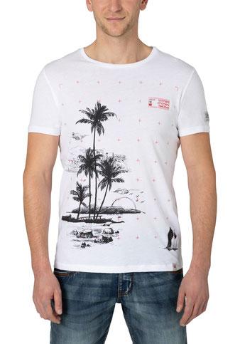 Palm T-Shirt weiß  bei #Männermode #Schlangen in Grevenbroich #festival #summer #rock #surfin #beach