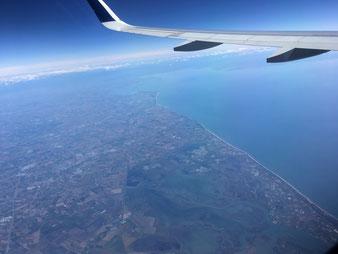 Flug über Europa