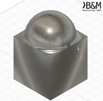 Würfel mit Kuppel im OBJ Format bei BundM Maschinenbau GmbH