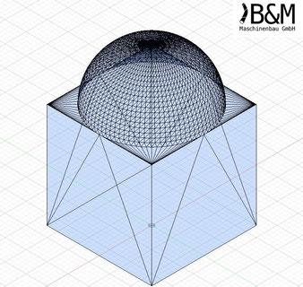 Würfel mit Kuppel im STL Format bei BundM Maschinenbau GmbH