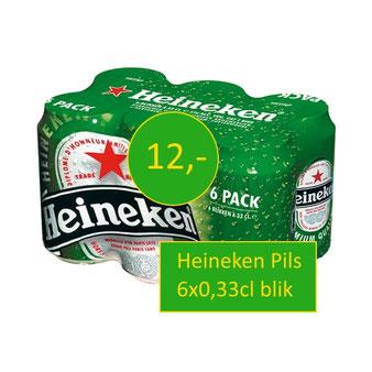 wij bezorgen gekoeld blikjes bier six pack heineken