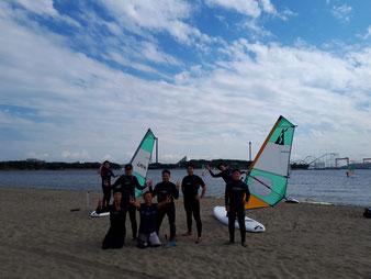 ウインドサーフィン SUP 海の公園 横浜 神奈川 スピードウォール