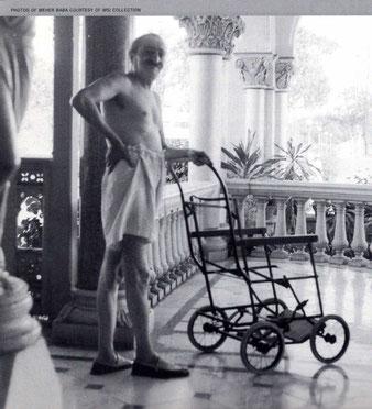 Meher Baba recuperating at Guruprasad, Poona, India