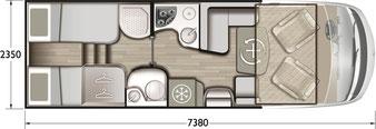 Grundriss Mobilvetta K-Yacht Tekno Line 85