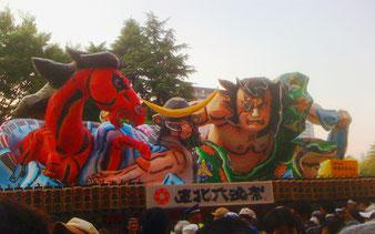 六魂祭のために特別に制作された「ねぶた」