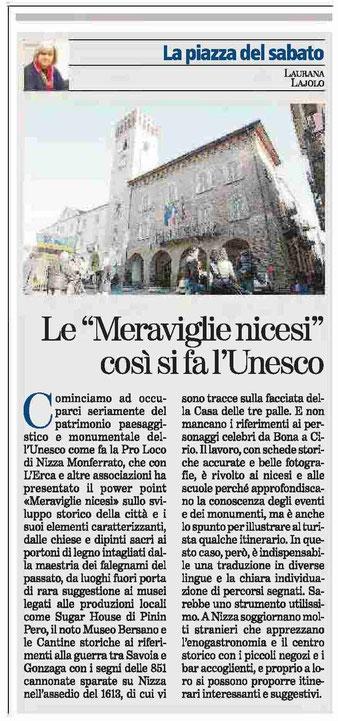 Articolo La Stampa del 19/09/2015