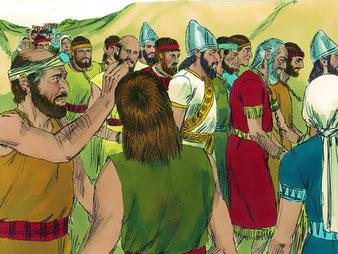Fin 598 av J-C, la 7ème année du règne de Nébucadnetsar (605-562), le roi babylonien revient à Jérusalem pour destituer l'insoumis Jojakim (608-597) après 11 ans de règne et le remplacer par son fils, Jojakin. Il emporte avec lui 3023 exilés juifs.