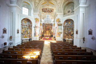 Eschenlohe Pfarrkirche St. Clemens Innenraum