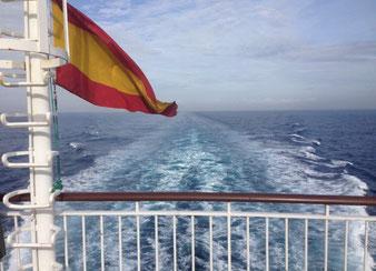 Abfahrt von Huelva