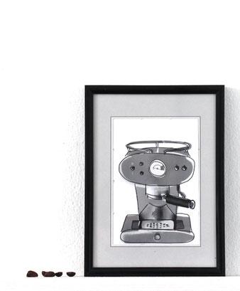 Kaffee Print mit Siebträger