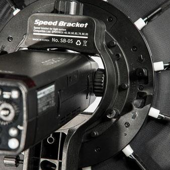 Test Godox AD200Pro, Montage mit nackter Blitzröhre im der SMDV Speedbox, Foto: bonnescape.de