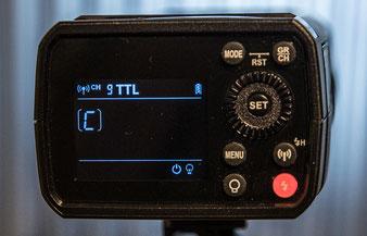Displayrückmeldung beim Godox AD200Pro im TTL-Modus, Foto: bonnescape.de