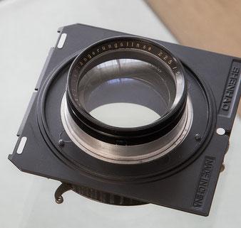 Großformatfotografie: Heliar 4.5/21cm mit Compound-Verschluss und Aufsteck-Longar. Foto: bonnescape.de