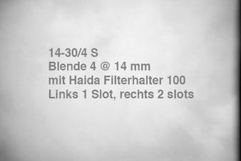 NIKON Z7 mit Z 14-30 mm 1:4 S, Vignettierung mit HAIDA Filterhalter 100. Foto: bonnescape.de