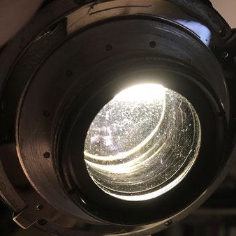 Verschmutzte Linsen eines Vorkriegs-Heliar 15 cm, Foto: bonnescape.de