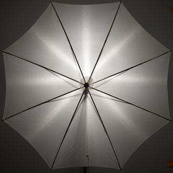 Test Godox AD200Pro, Ausleuchtung eines Durchblitzschirms mit nackter Blitzröhre, Foto: bonnescape.de