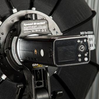 Test Godox AD200Pro, Montage in der SMDV-Speedbox, Foto: bonnescape.de
