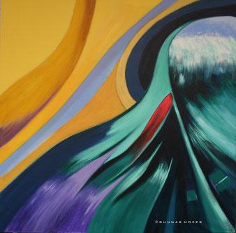 acrylgemälde, abstrakt, gunnar mozer