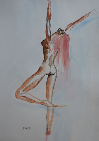 akt, eroticism, nude, aquarell, watercolor, gunnar mozer