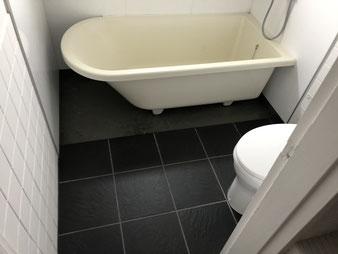 足つき浴槽床張り替え工事