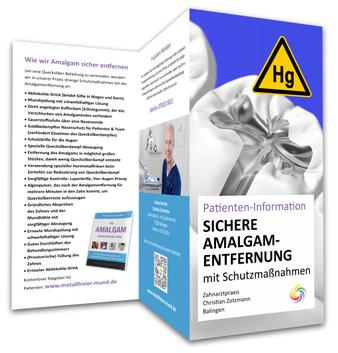 Flyer zur sicheren Amalgam-Entfernung von Zahnarzt Christian Zotzmann, Sigmaringen