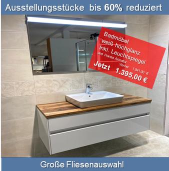 Foto Online Shop z.B. Badmöbel inkl. Spiegelschrank