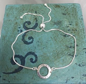 dainty hoop bracelet Emma Hedley Jewellery Silver Personalised