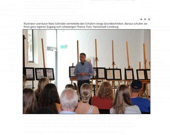 Niels-Schröder in Lüneburg. Workshop über das Attentat auf Hitler am 20. Juli 1944 und die dazu neu entstandene Graphic-Novel.