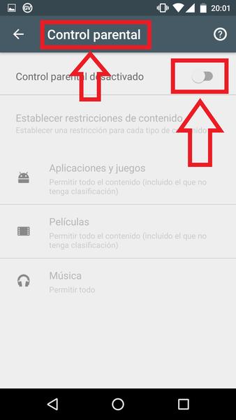 Cómo Desactivar El Control Parental De Google Play Store