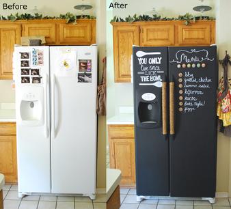 Грифельная окраска холодильника